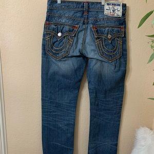 True Religion straight w/flaps Jeans